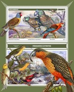 Mozambique - Postfris / MNH - Sheet Uitgestorven Vogels 2017 - Mozambique