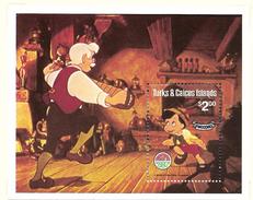 TURKS ET CAICOS 1980 NOEL-PINOCCHIO  YVERT N°B25  NEUF MNH** - Disney