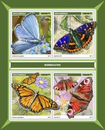 Mozambique - Postfris / MNH - Sheet Vlinders 2017 - Mozambique
