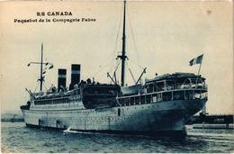 """Le Paquebot """"SS CANADA"""" De La Compagnie Fabre - Très Belle Carte Postée - Carte Expédiée De Marseille - Passagiersschepen"""