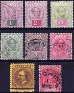 SD 4 - SARAWAK LOT DE 8 TP Entre N°15 Et 47 Neufs*/Oblitérés - Sarawak (...-1963)