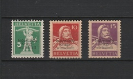 1918 IKW 5/10/15 CENTS SMALL OPT MM* - Dienstzegels