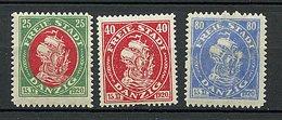 Danzig* N° 57 à 59 - - 1919-1939 Republik