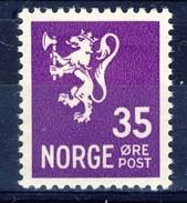 #Norway 1937. [1] Lion-type. Michel 187. MH(*). - Norvège