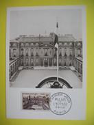 Carte-Maximum    N° 1126 Palais De L'Elysée, à Paris  1957 - 1950-59