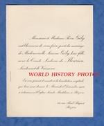 Document De 1933 - BEZIERS 46 Rue Paul Riquet - Mariage Comte Ludovic De FLEURIEU Lieutenant Vaisseau Avec Simone GELY - Wedding