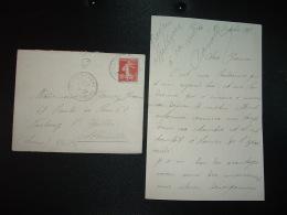 LETTRE TP SEMEUSE 10c OBL.4 10 09 ST VALERY S/SOMME SOMME (80) BOITE RURALE C - Marcophilie (Lettres)
