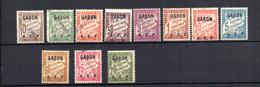 Serie Nº T-1/11 Gabon Con Algunos Sellos Sobrecarga Especimen - Gabon (1886-1936)