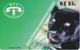 TARJETA DE BELICE DE UNA PANTERA NEGRA (PANTHER) - Belize