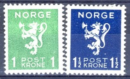 #Norway 1940. Lion-type. Michel 207-08. MH(*). - Ungebraucht