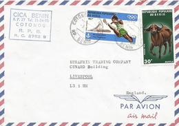 Benin 1978 Cotonou Aeroport Olympic Games Montreal Athletics Scouting Buffalo Cover - Benin – Dahomey (1960-...)