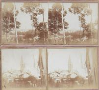 78 - 2 PHOTOS Sur CARTON - 12.5X6 - LOUVECIENNES - Photos Prise En  1917 - Louveciennes