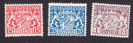 Bavaria, Scott #O11, O14, O18, Mint Never Hinged/ No Gum, Coat Of Arms, Issued 1916 - Bavaria