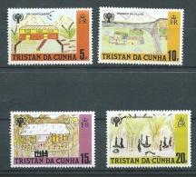 Tristan Da Cunha  - Yvert N° 263 / 266  , 4 Valeurs ** -  Aab11619 - Tristan Da Cunha