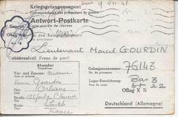 Envoi Vers Prisonnier De Guerre Au Camp Oflag XB (Nienburg Région De Hambourg 1941 - Guerre De 1939-45
