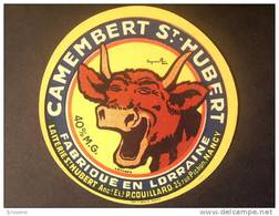 54011 - étiquette De Fromage 1921 Camembert St-Hubert NANCY - Vache Qui Rit Signée Benjamin Rabier - Meurthe Et Moselle - Kaas