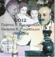 GRIEKENLAND - BU SET 2012 - GEORGIOS N. PAPANICOLAOU + 10 EURO ZILVER - Grèce