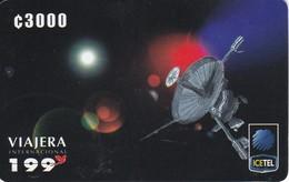 TARJETA DE COSTA RICA COMUNICACION CON EL MUNDO SATELITES C3000 - Costa Rica