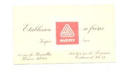 Carte De Visite - Ets DELAISSE & Fils  Automobiles - Impéria, F.N. , Hudson à WAVRE Et TIRLEMEONT / TIENEN - Tarjetas De Visita