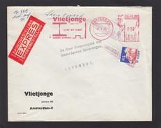 LETTRE AVEC EMA ET TIMBRE CHEMIN DE FER,1965. - Chemins De Fer