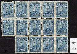 Colombia 1917 Perkins Bacon 5c Blue Bolivar MNH Blk/14 Variety SHEET WATERMARK, SG361 Scott 343.