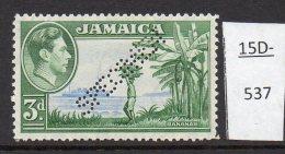 Jamaica De La Rue 1938 3d Bananas Fruit Ship Perforated SPECIMEN MH SG 126s - Jamaica (...-1961)