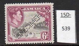 Jamaica Waterlow 1938 6d Car Donkey Canoe Fruit Perforated SPECIMEN MH SG 128s - Jamaica (...-1961)