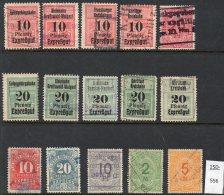 Deutsche Frachtmarken (Eisenbahn) German Freight / Railway Parcel Stamp Selection (15) - See Text