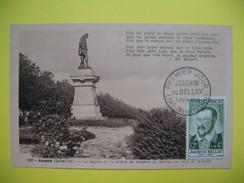 Carte-Maximum    N° 1166 Joachim Du Bellay, Poète  1958 - Cartas Máxima