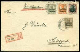 Deutsches Reich Bayern 1919 Eingeschrieben Brief Nach Stuttgart Mit Mi 136, 137, 139 Und 145 - Bayern