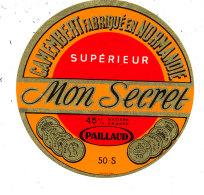 N 502 -  ETIQUETTE DE FROMAGE  - CAMEMBERT MON SECRET  PAILLARD 50 S. - Fromage