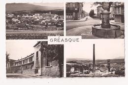( 13 ) GREASQUE Multivues Vue Générale La Fontaine Les Ecoles La Mine C à D De GREASQUE - Otros Municipios