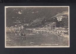 Schweiz AK Montreux La Plage 1927 - VD Vaud