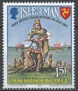 Isle Of Man 1973. Scott #28 (MNH) Vikings Landing On Man * - Man (Ile De)