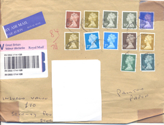 2001. Great Britain, The Letter Sent By V-valuable Post To Moldova - 1952-.... (Elizabeth II)