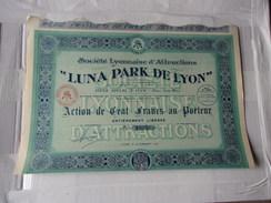 Lyonnaise D'attractions LUNA PARK DE LYON (1921) - Shareholdings