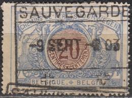 Belgique 1902 COB Colis Postaux 30 Cote (2016) 0.30 Euro Locomotive à Vapeur Cachet Rond