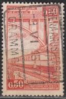 Belgique 1935 COB Colis Postaux 182 O Cote (2016) 0.40 Euro Locomotive Diesel Cachet Rond - Chemins De Fer