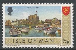 Isle Of Man 1973. Scott #12 (M) Castletown And Manx Emblem - Man (Ile De)