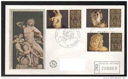 FDC Vaticano 1977 Musei Vaticani Da 120 + 150 + 170 Lire Filagrano - FDC