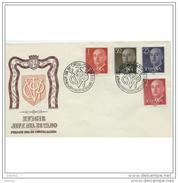 ESSPD1145ASTV-LFTSPD1145TAN.Spain,Espagne,Sobres Del 1º Dia.politico.FRANCISCO FRANCO. 1955/6 (Ed 1143/63). - 1931-Hoy: 2ª República - ... Juan Carlos I