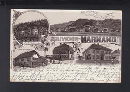 Schweiz Litho AK Souvenir De Marnand 1903 - VD Waadt