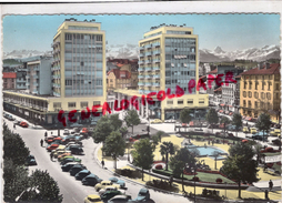 64 - PAU - LA PLACE CLEMENCEAU ET LE PALAIS DES PYRENEES -1963 - Pau