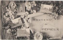 CPA 11 PEPIEUX Souvenir Fantaisie 4 Vues Fleurs - Francia