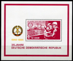 DDR - Mi Block 78 = 2896 - ** Postfrisch - 1M  35 Jahre DDR II - Ungebraucht