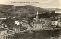 CPA - SAINT-JUST-en-CHEVALET (42) - Aspect Du Quartier De L'Eglise Au Début Du Siècle - Frankrijk