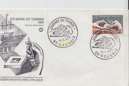 Timbre Sur Lettre 1966  Roubaix - Marcophilie (Lettres)