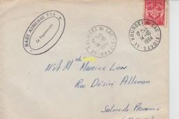 Timbre Sur Lettre 1964 Et Lettre Base Ecole 725 Avec L Ecusson - Marcophilie (Lettres)