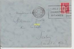 Timbre Sur Lettre 1936 - Marcophilie (Lettres)
