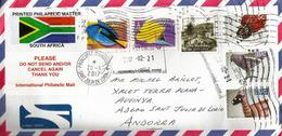 Lettre Philatélique D'Afrique Du Sud, Adressée ANDORRA, Avec Timbre à Date Arrivée - Afrique Du Sud (1961-...)